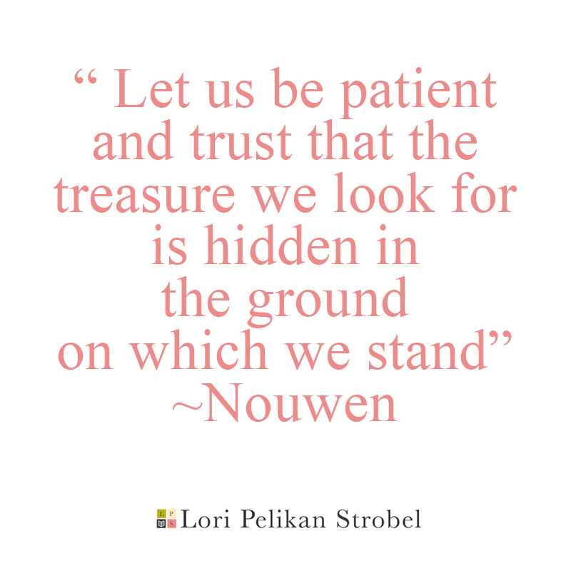 Let us be patient and trust