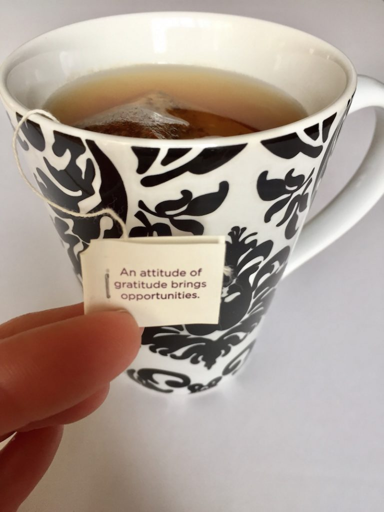 Tea Wisdom: An attitude of gratitude brings opportunities.